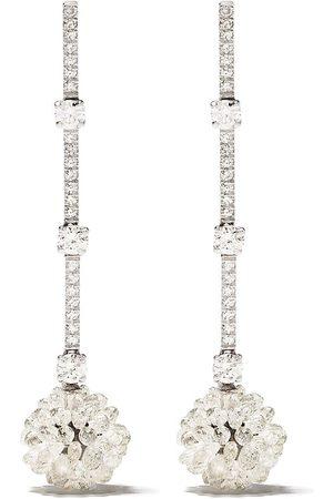 David Morris Diamantörhängen i 18K vitguld