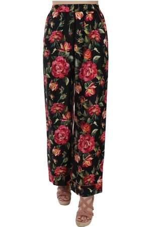 Dolce & Gabbana Floral Print Silk Pajama Trousers