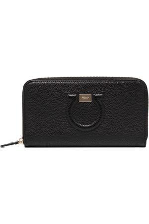 Salvatore Ferragamo Black Gancini leather wallet