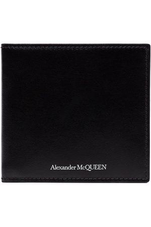 Alexander McQueen Black billfold leather wallet