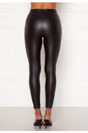 Ax Paris Kvinna Leggings - Matt Faux Pu Leggings Black XS (UK8)
