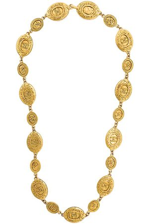 CHANEL Embossed medallions necklace