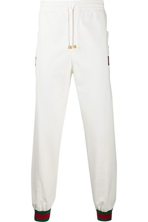 Gucci Man Joggingbyxor - Web stripe sweatpants