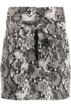 The Attico Snakeskin print mini skirt