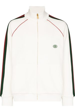 Gucci Stripe panel cotton sweatshirt