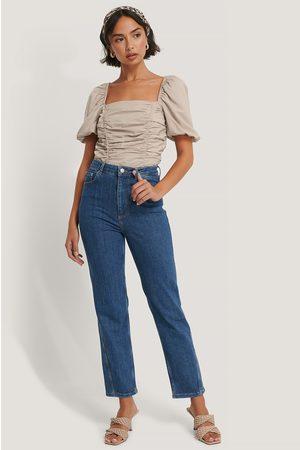 NA-KD Jeans Med Vriden Sömdetalj