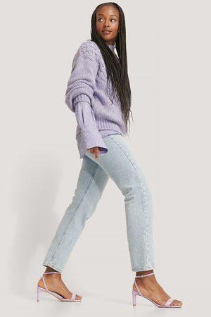 NA-KD Kvinna Sandaler - Croc Basic Block Heel Sandals