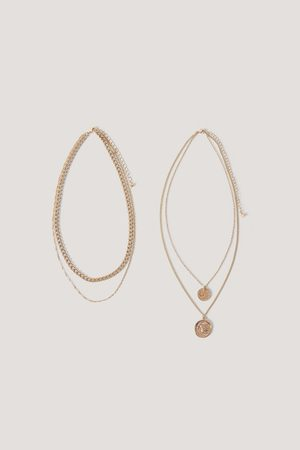 NA-KD Layered Coin And Chain Necklaces