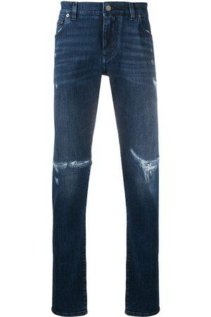 Dolce & Gabbana Jeans med logotyp och slitning