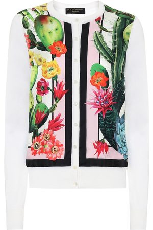 Dolce & Gabbana Exclusive to Mytheresa – Printed silk and cashmere cardigan
