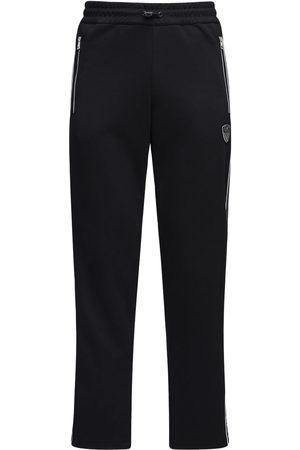 EA7 Logo Cotton Blend Sweatpants