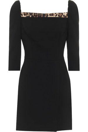 Dolce & Gabbana Stretch-wool minidress