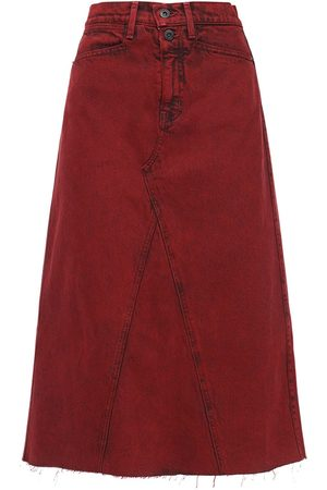 PROENZA SCHOULER WHITE LABEL High Waist Cotton Denim Midi Skirt