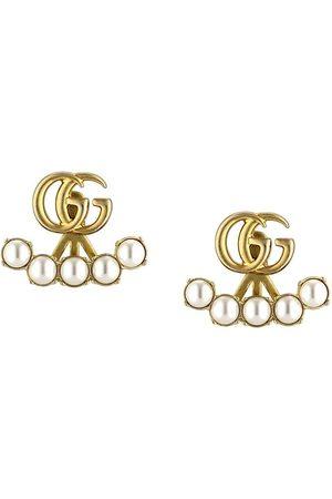 Gucci Man Örhängen - Pearl double G earrings