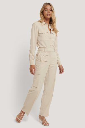 NA-KD Kvinna Byxor - Kostymbyxa Med Fickor