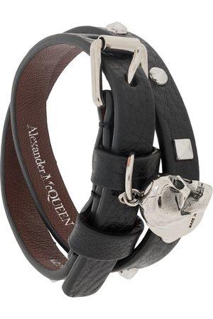 Alexander McQueen Dubbelvirat armband med dödskalle