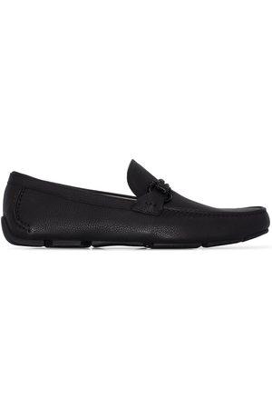 Salvatore Ferragamo Black Front 4 leather loafers