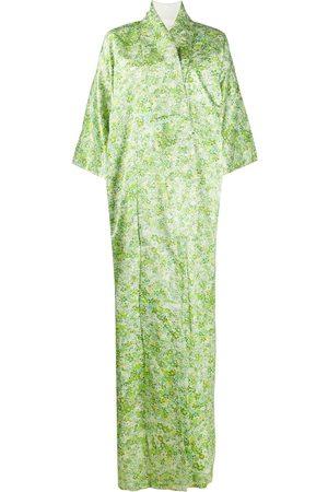 A.N.G.E.L.O. Vintage Cult Blommig kimono från 1970-talet