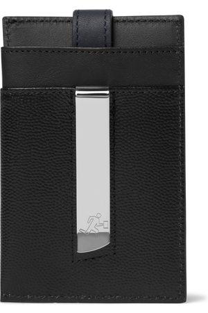 WANT LES ESSENTIELS Man Plånböcker - Pebble-Grain Leather Cardholder with Money Clip