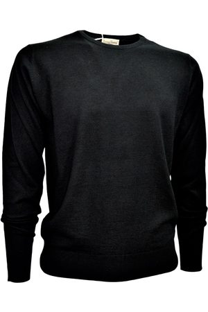 CASHMERE COMPANY Men's Crew Neck Sweater Wool and Silk