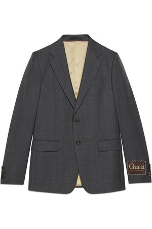 Gucci Man Jackor - Wool jacket with label