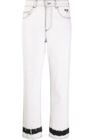 Msgm Batikfärgade jeans med rand