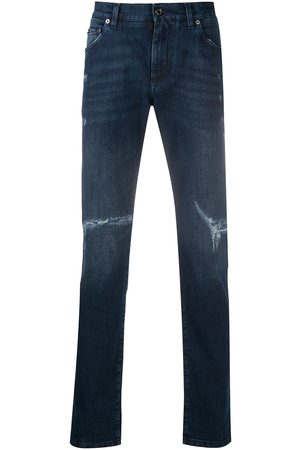 Dolce & Gabbana Ripped mid-rise skinny jeans