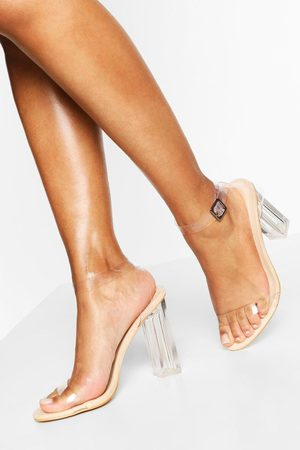 Boohoo Wide Fit Clear Heel 2 Part