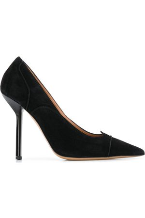 Emporio Armani Pointed scalloped-edge pumps