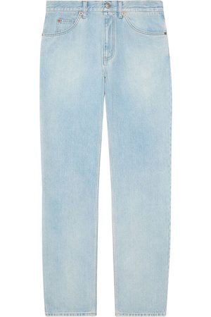 Gucci Man Straight - Regular fit stone-bleached jeans