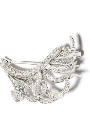 David Morris Swirl diamantbrosch