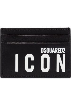 Dsquared2 Icon logo-print leather card holder