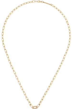 BY PARIAH 14K medium square link diamond necklace