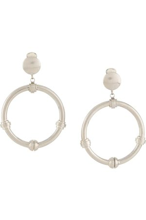 Gianfranco Ferré 2000s dangling hoop earrings