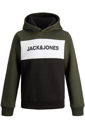 Jack & Jones Junior Logotypprydd Sweatsydd Hoodie Man