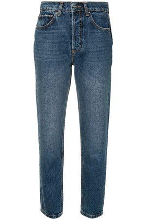 ANINE BING Sonya raka jeans med hög midja