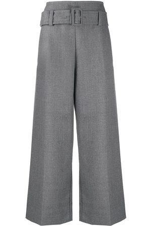 Marni Kvinna Bälten - Flared high waisted trousers with belt