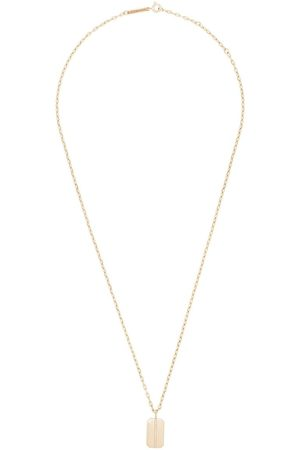Zoe Chicco Kvinna Halsband - 14kt dog tag necklace