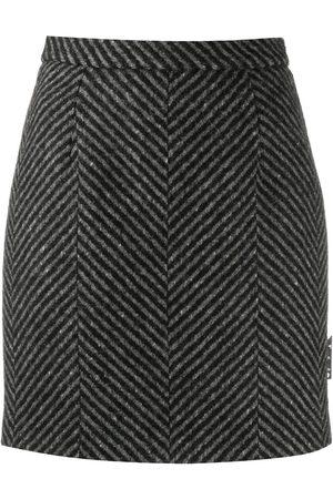 OFF-WHITE Kvinna Minikjolar - Diagonal-stripe mini skirt