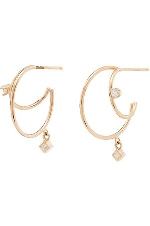 Zoe Chicco 14kt diamond double hoop earrings