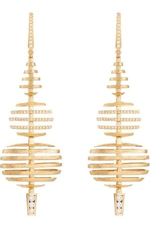 ANNOUSHKA 18kt yellow and white gold Garden Party diamond large earrings