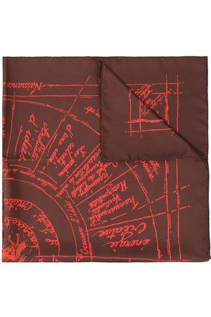Hermès Halsduk med abstrakt tryck