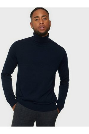 Selected Slhberg Roll Neck B Noos Tröjor Navy Blazer