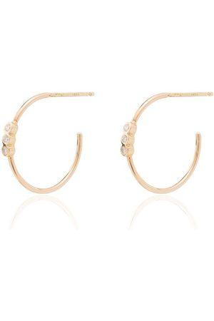 Zoe Chicco örhängen i 14K gult guld med diamant