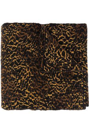 Saint Laurent Leopard camouflage scarf