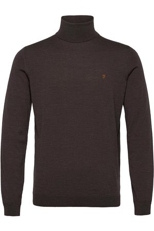 Farah Gosforth Merino Wool Roll Neck Jumper Knitwear Turtlenecks