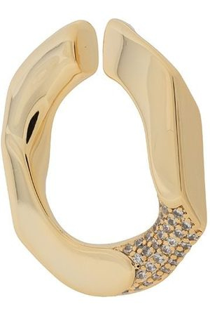 númbering Pavé chain-unit earcuff