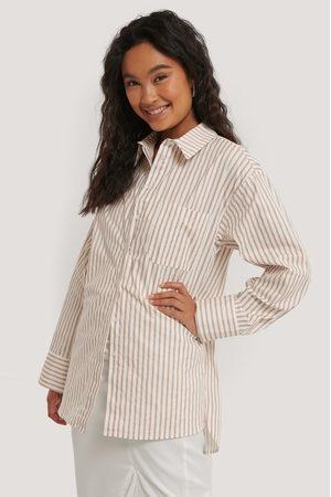 NA-KD Oversize Bomullskjorta Med Ficka