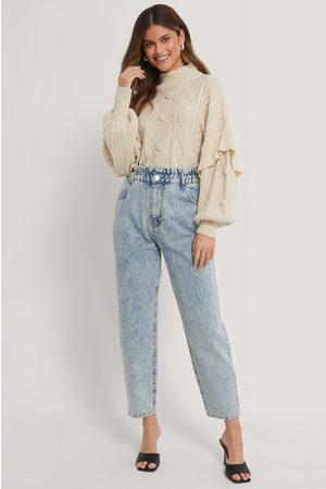 NA-KD Jeans Med Paperwaist