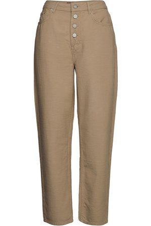 WoodWood May Jeans Byxa Med Raka Ben Brun
